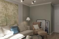 Дизайн интерьера гостиной 19,7 кв.м., в г. Екатеринбург