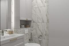 Дизайн интерьера душевой комнаты 4,4 кв.м., в г. Екатеринбург