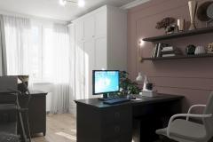 Дизайн интерьера кабинета 15,5 кв.м., в г. Екатеринбург