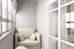 Дизайн интерьера лоджии 5,4 кв.м. г. Екатеринбург