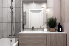 Дизайн интерьера ванной 4,6 кв.м. г. Екатеринбург