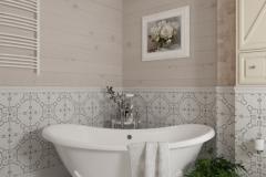 Дизайн интерьера ванной комнаты 6,8 кв.м., Сысертский р-н