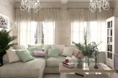 Дизайн интерьера гостиной 31,7 кв.м., Сысертский р-н