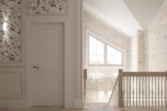 Дизайн интерьера коридора 2го этажа 8,8 кв.м., Сысертский р-н