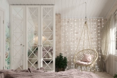 Дизайн интерьера спальни 15,5 кв.м., Сысертский р-н