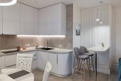 Дизайн интерьера кухни -гостиной в г. Екатеринбург