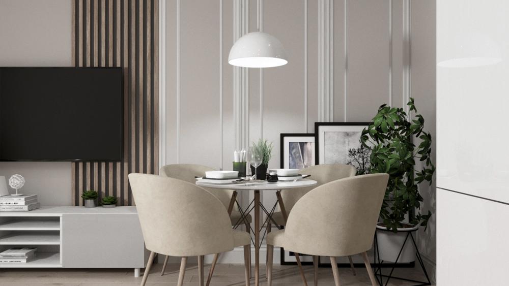 Дизайн интерьера квартиры-студии по ул. Буторина