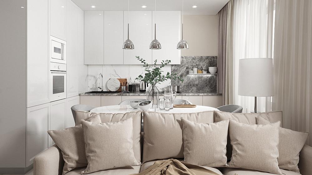 Дизайн интерьера двухкомнатной квартиры по ул. Счастливая