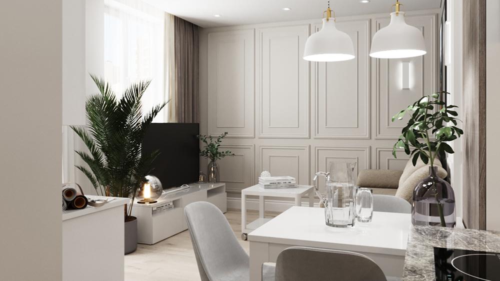 Дизайн интерьера квартиры-студии по ул . Чемпионов
