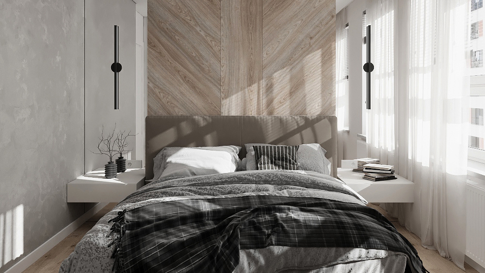 Дизайн интерьера трехкомнатной квартиры по ул. Мраморская
